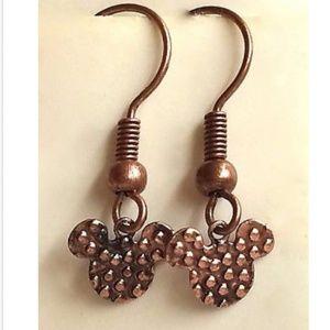 Mickey Mouse Earrings Ears Disney Icon Copper
